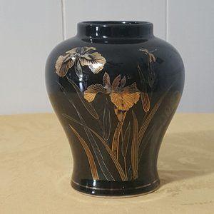 Other - Vintage Ceramic Black Japanese Vase